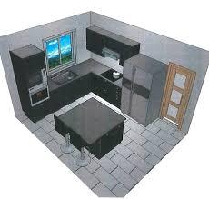plan cuisine 3d en ligne plan de cuisine en l attrayant amenagee 0 agencement dans le 44 u