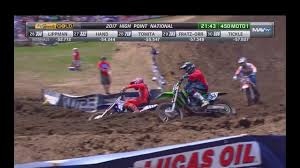 ama motocross tv ama motocross 450 moto 1 high point 2017 supercross youtube