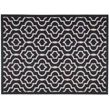 Quatrefoil Outdoor Rug Courtyard Natural Blue 8 Ft X 11 Ft Indoor Outdoor Area Rug