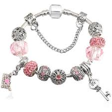 european bead charm bracelet images Glass beads charm bracelet designer inspired with crystals and jpg