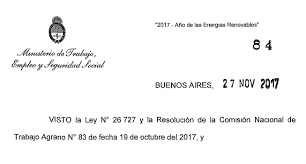 uatre nueva escala salarial para los trabajadores agrarios rurales acuerdan bono de 2500 pesos para diciembre