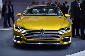 volkswagen thing yellow geneva 2015 volkswagen sport coupe gte concept unveiled the