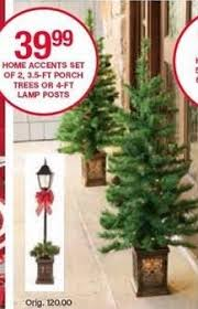 belk black friday home accents 3 5 ft porch trees set of 2 for