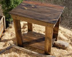 reclaimed wood end table wooden crate end table side table bedside table low table