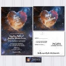 discount wedding invitations galaxy wedding invitations and space invite set written in