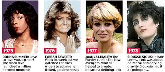 mens hair styles of 1975 beyond the fringe from the purdey to the rachel 50 years of