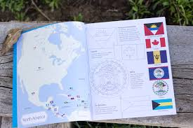 Flag Of Antigua Flags Of The World To Color U2013 Peek Inside U2013 Usborne Books U0026 More