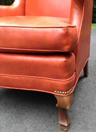 Reupholster Leather Chair My Passion For Decor A Much Needed Update For An Old Vinyl Chair