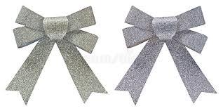 decorative bows two silver glitter decorative bows stock photo image of metallic