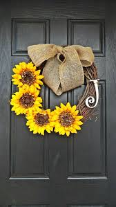 burlap sunflower wreath burlap sunflower wreath front door wreath by adorabellawreaths