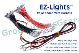 ez lights color coded wire harness for lighted buttons