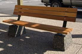 steel wood and concrete commercial benches nikls