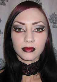vampire makeup look for halloween glitter is my smokey black gray and red gothic vampire