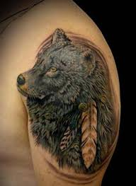 wolf indian traditional wolf tattoos