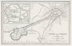 Ancient Map Of Greece by Map Ancient Athens U0026 Pireaus Greece