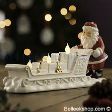 belleek living santa sleigh votive decorations