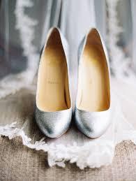 silver christian louboutin wedding shoes elizabeth anne designs