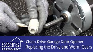 replacing the drive and worm gears on a chain drive garage door