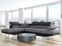 canapé d angle gris et noir canapé d angle gauche convertible avec coffre noir gris
