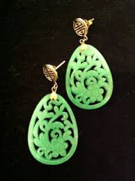 earrings hong kong gorgeous green jade tear drop earrings gorgeous gems