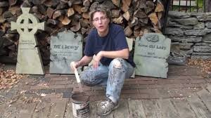 halloween headstones killer tombstones pt 3 painting youtube