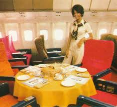 Dining Room Attendant Twa L1011 First Class Dining Table Publicity Shot Taken In N31001