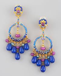 Colorful Chandelier Earrings Jose U0026 Maria Barrera Multicolor Filigree Chandelier Earrings Lyst