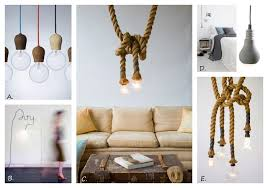 Bare Bulb Pendant Light Fixture Exposed Bulb Lighting In Interiors Design