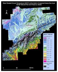 World Map 1950 Permafrost Map 1950 1959 Cru Climate Forcing Of Denali National
