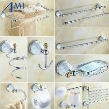 Wall Mounted Bathroom Accessories Sets 64 cd series chrome polish brass u0026 diamond wall mounted bathroom