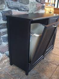 trash can cabinet lowes double trash can new black painted wood double trash bin cabinet by