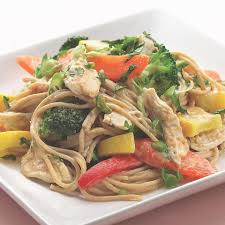 peanut noodles with shredded chicken u0026 vegetables recipe eatingwell