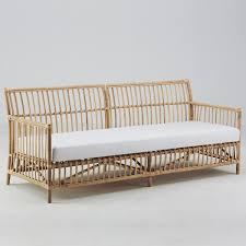 canapé en osier mobilier élégant sika design