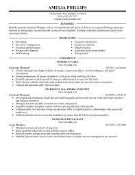Management Resume Example by Restaurant General Manager Resume 20 Assistant Example 7 Job