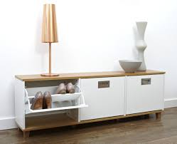 design ideas wooden shoes storage cabinet with simple bench in