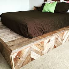 Wooden Platform Bed Frame How To Build A Platform Bed From Reclaimed Wood