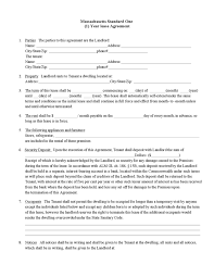 massachusetts rental lease agreement templates legalforms org