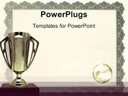 powerpoint template award presentation on podium with winning