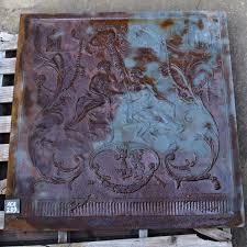 large antique cast iron fire back judgment of paris