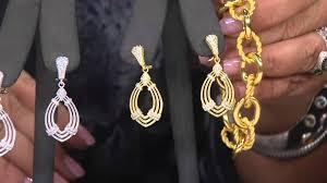 judith ripka earrings judith ripka sterling silver or 14k clad diamonique drop earrings