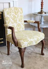 Upholstered Armchair Stripped Stained U0026 Upholstered Arm Chair