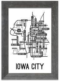 Iowa City Map Iowa City Iowa Street Map Print Street Posters