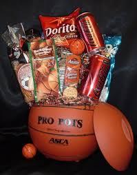 basketball gift basket sports theme baskets