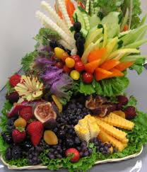fruit and vegetable baskets fruit cheese and vegetable basket delicious catered food by