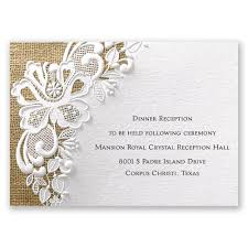 wedding reception cards lacy reception card invitations by