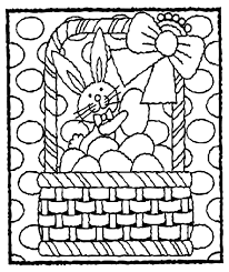 easter bunny in basket coloring page crayola com