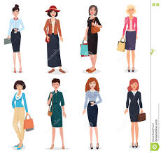 in business office and fashion clothes stock vector