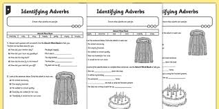 identifying adverbs differentiated activity sheet gps