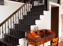 Iron Stair Banister Wrought Iron Stair Railings Staircase Victorian With Antique Desk