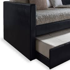 sunset collection bk black wooden twin daybed with trundle